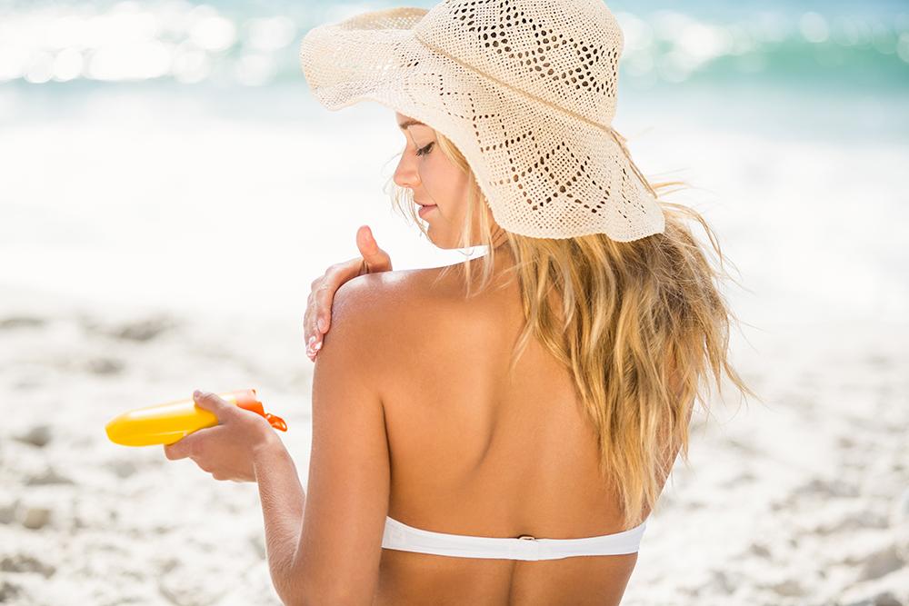 sunscreen and skincare