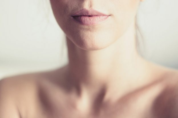 Protecting chest and neck skin - neck wrinkles